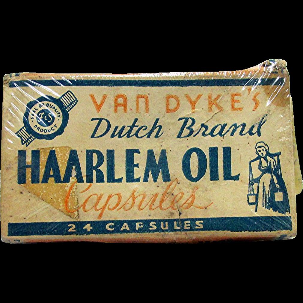 SOLD    Unopened Van Dykes Haarlem Oil Capsules