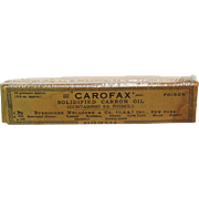 Carofax Carron Oil with Original Box Advertising for Drugstore or Pharmacy