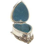 Silver Heart Shaped Jewelry Casket or Box by Weidlich Bros.