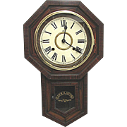 Antique Regulator Wall Clock WORKS and Keeps Time