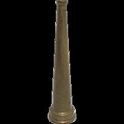 """Fireman's Brass Fire Hose Nozzle  10 1/4"""" Tall"""