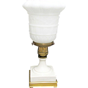 Table Lamp Porcelain & Gold Gilt Metal Base With Makers Mark