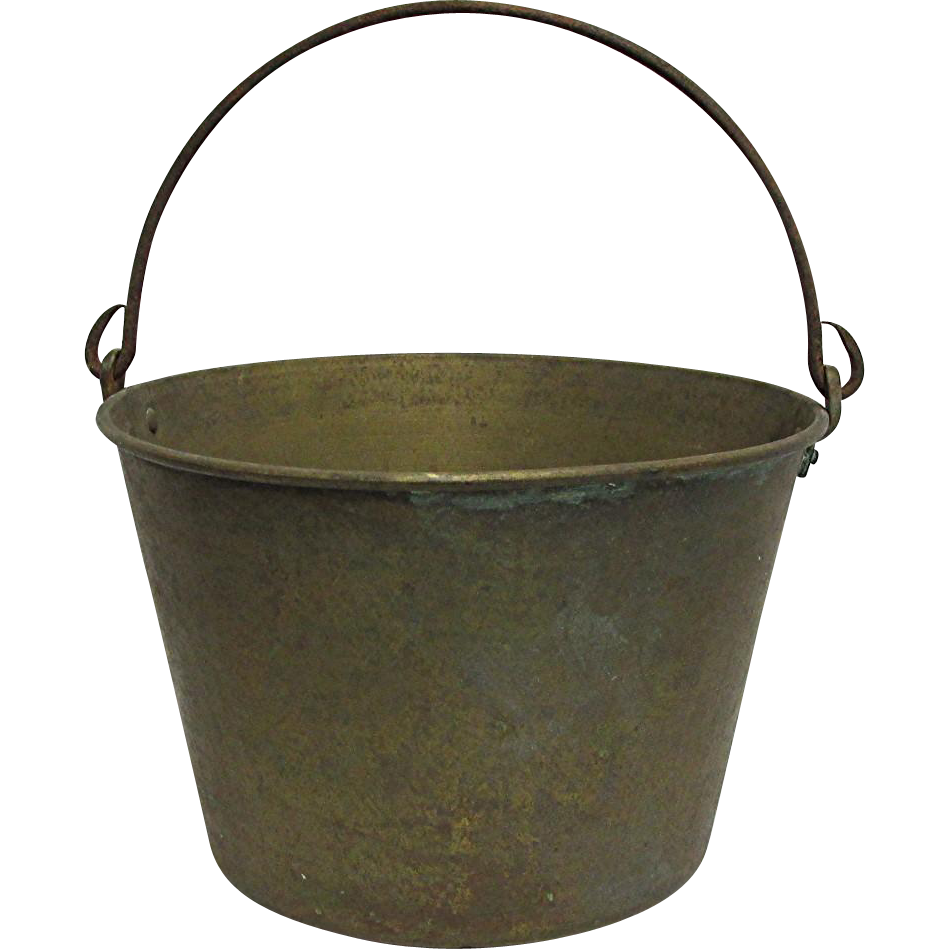 Brass Bucket or Pail H. W. Haydens