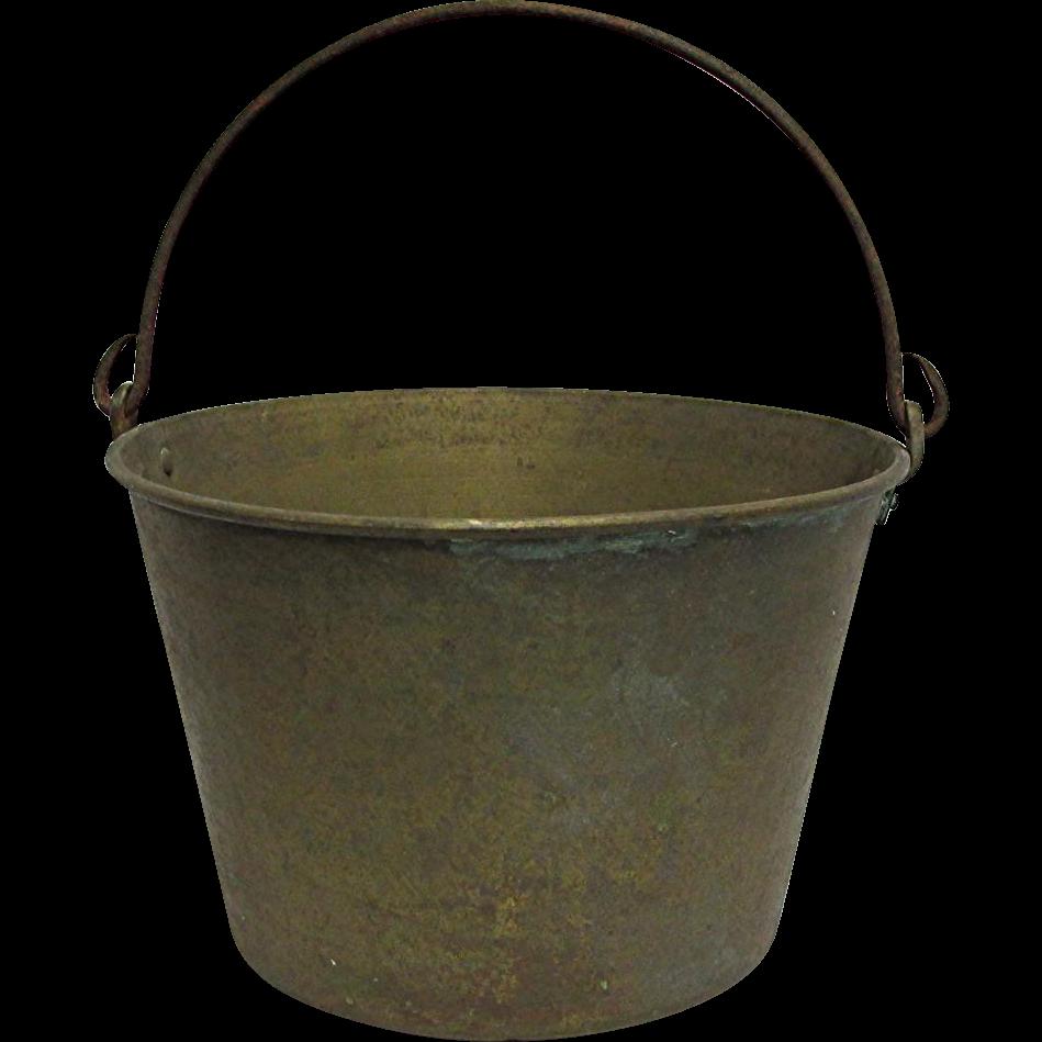 Brass Kettle, Pail, Bucket or Pot By H. W. Haydens