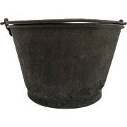Brass Bucket or Pail Ansonia Brass Co. H. W. Haydens Patent