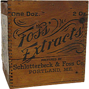 Foss Vanilla Extract Wood Advertising Box