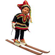 Downhill Skier Doll in Ethnic Garb