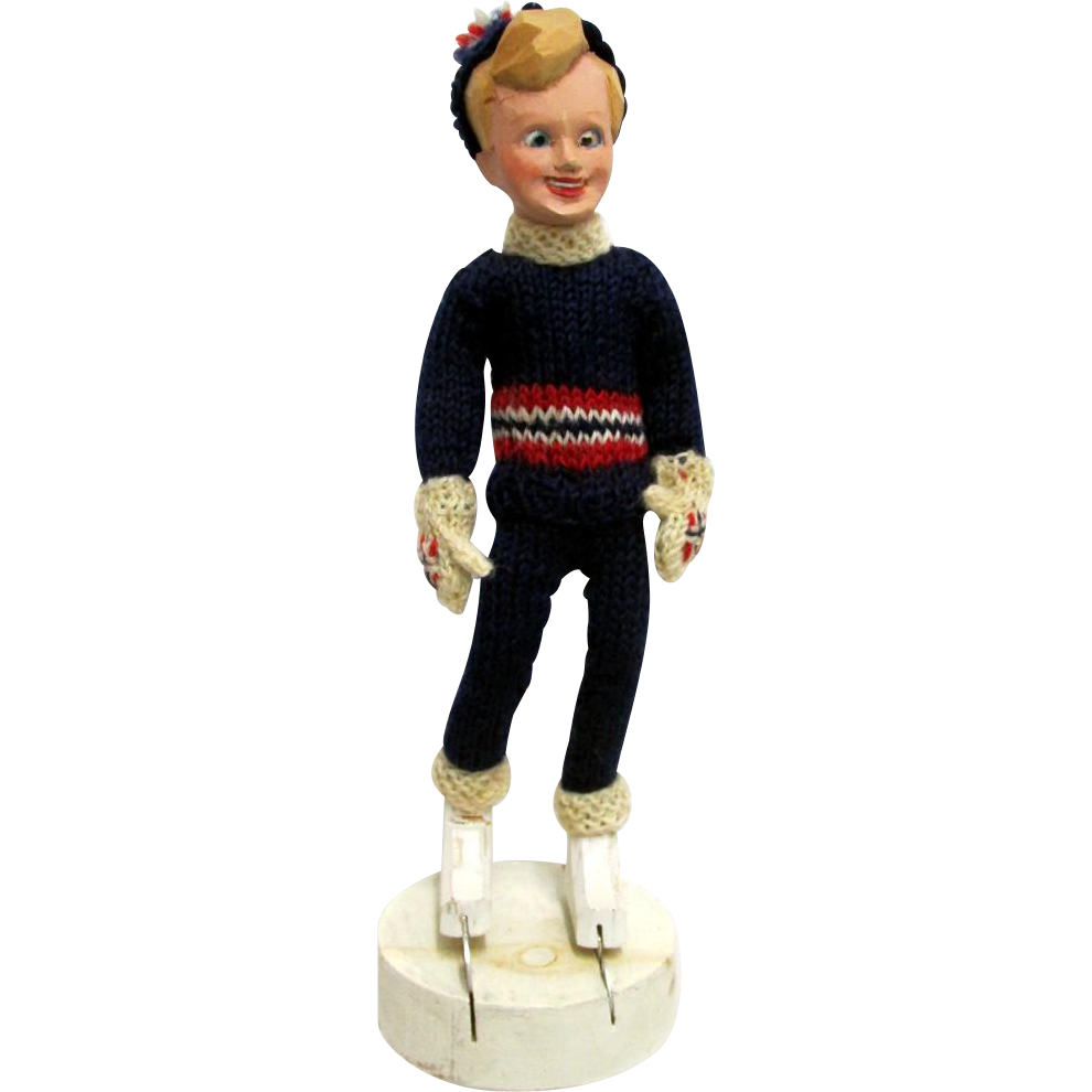 SOLD   Skater Doll by Mimi Berg Circa 1950