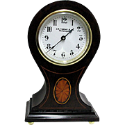 Antique Inlaid French Balloon Clock