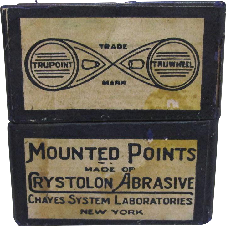 Box with Five Mounted Points Made by Chayes System Laboratories NY