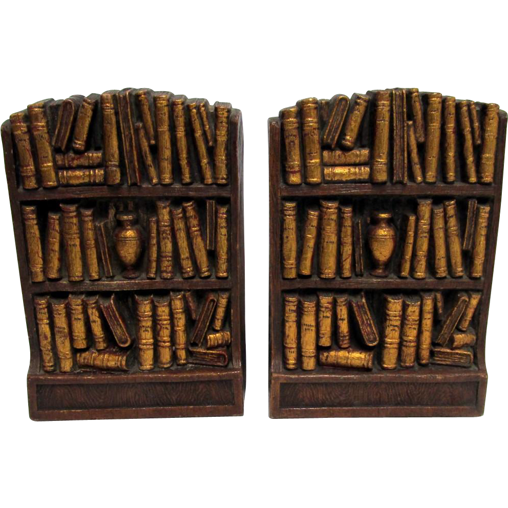 Bookends Matching Pair Syroco Wood of  Syracuse New York
