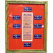 Take Off Razor Blades Framed Advertising Retail Display  from Drugstore or Pharmacy