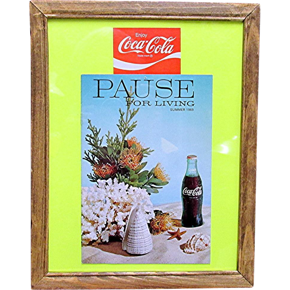 Coca Cola Pause for Living Summer 1969 Magazine Framed
