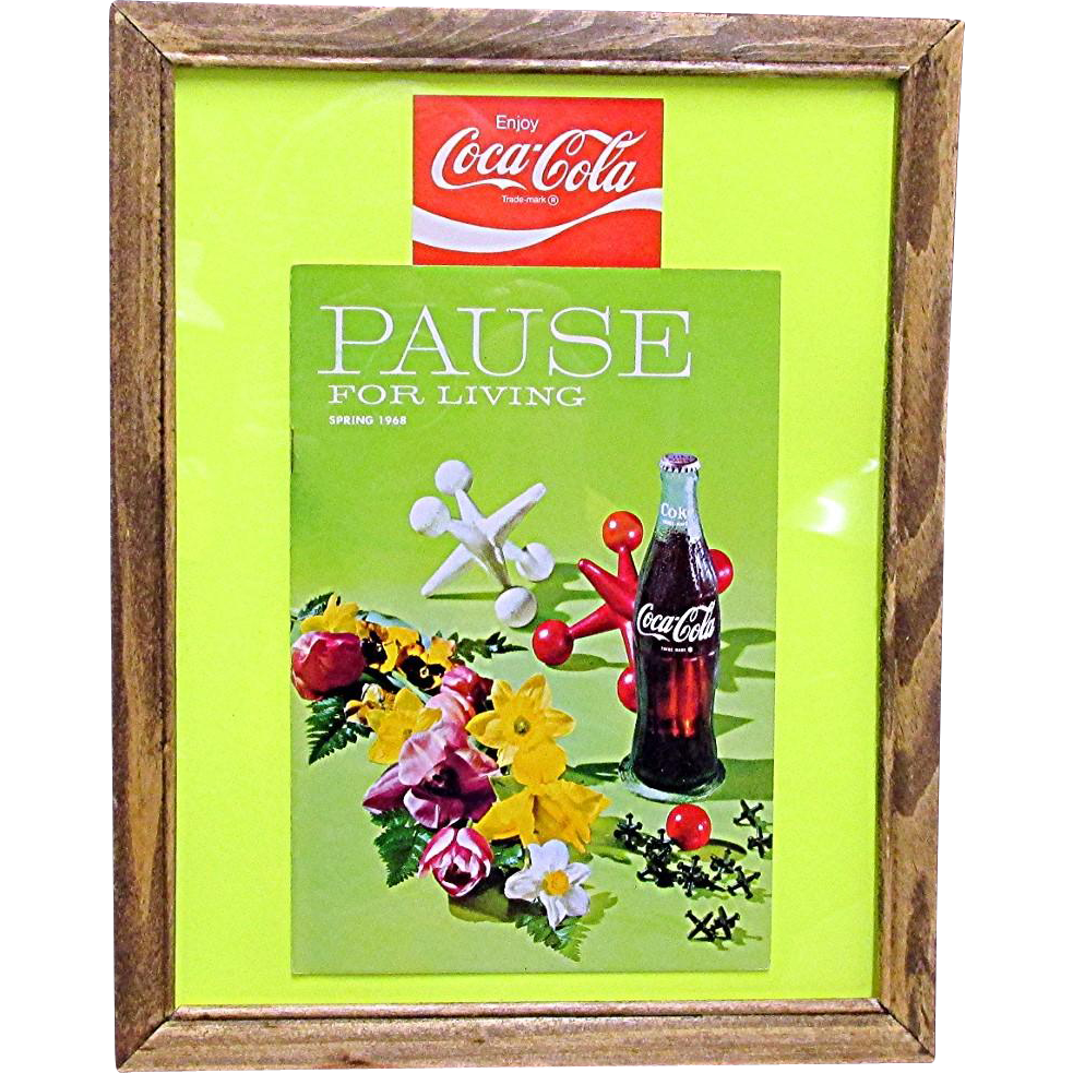 Coca Cola Pause for Living Spring 1968 Magazine
