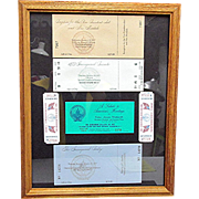 Framed for the Bipartisan Inaugural Event Tickets and Passes 1973 1977 1981