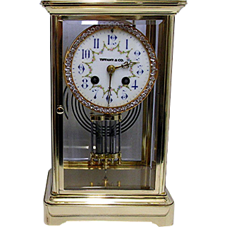 French Clock Tiffany Table Regulator
