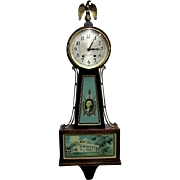 Seth Thomas Mt. Vernon Banjo Wall Clock