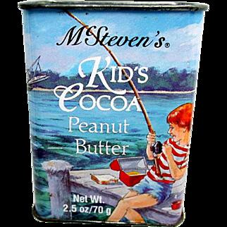 McSteven's Kid's Cocoa Peanut Butter Advertising Tin