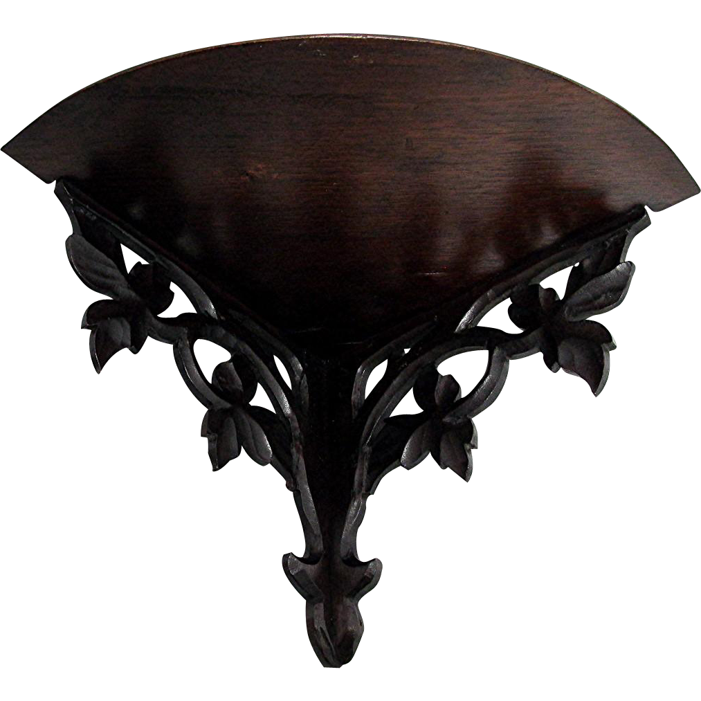 Carved Corner Wall Shelf Antique Shelf Circa 1890-1900