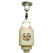 Porcelain and Glass Pendant Light Or Hanging Lamp Ceiling Light Fixture