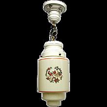Light for Ceiling Porcelain and Glass Pendant Light Or Hanging Lamp Ceiling Light Fixture