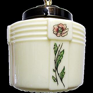 Hanging Lamp Art Deco Ceiling Custard Glass Light Fixture Or Pendant Light