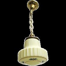 Hanging Lamp Ceiling Light Fixture Custard Glass Pendant Lamp