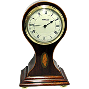 Miniature Inlaid French Balloon Clock Retailed by Tiffany