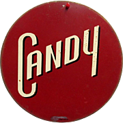 SOLD     Candy Metal Advertising Sign