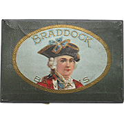 Braddock Pocket Advertising Cigar Box MINT
