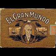 El Gran Mundo Advertising Pocket Cigar Box