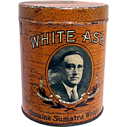 White Ash Advertising Cigar Tin
