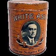 White Ash Advertising Cigar Tin
