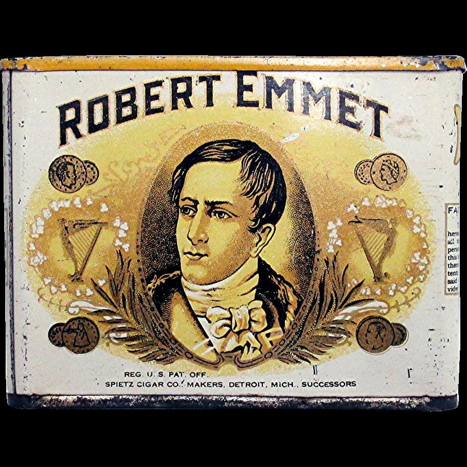 Robert Emmet Pocket Advertising Cigar Tin
