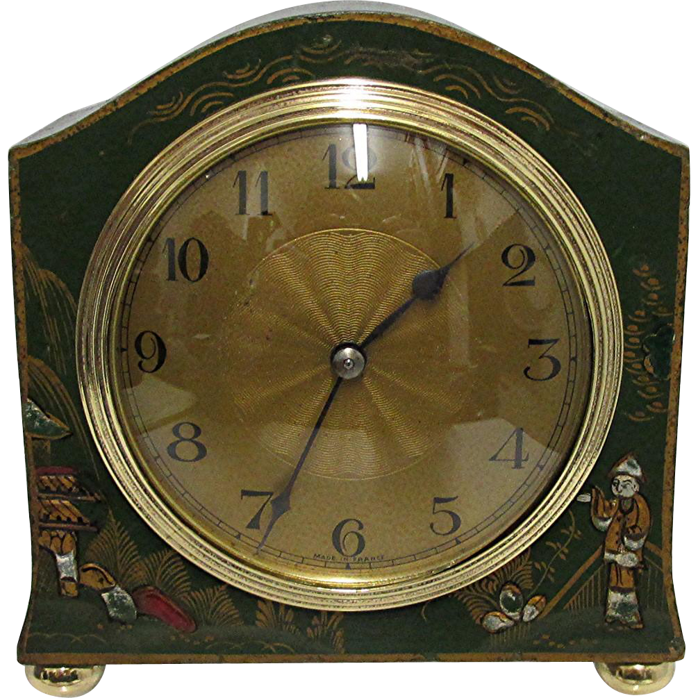French Chinoiserie Mantel Clock 100% Original and Restored