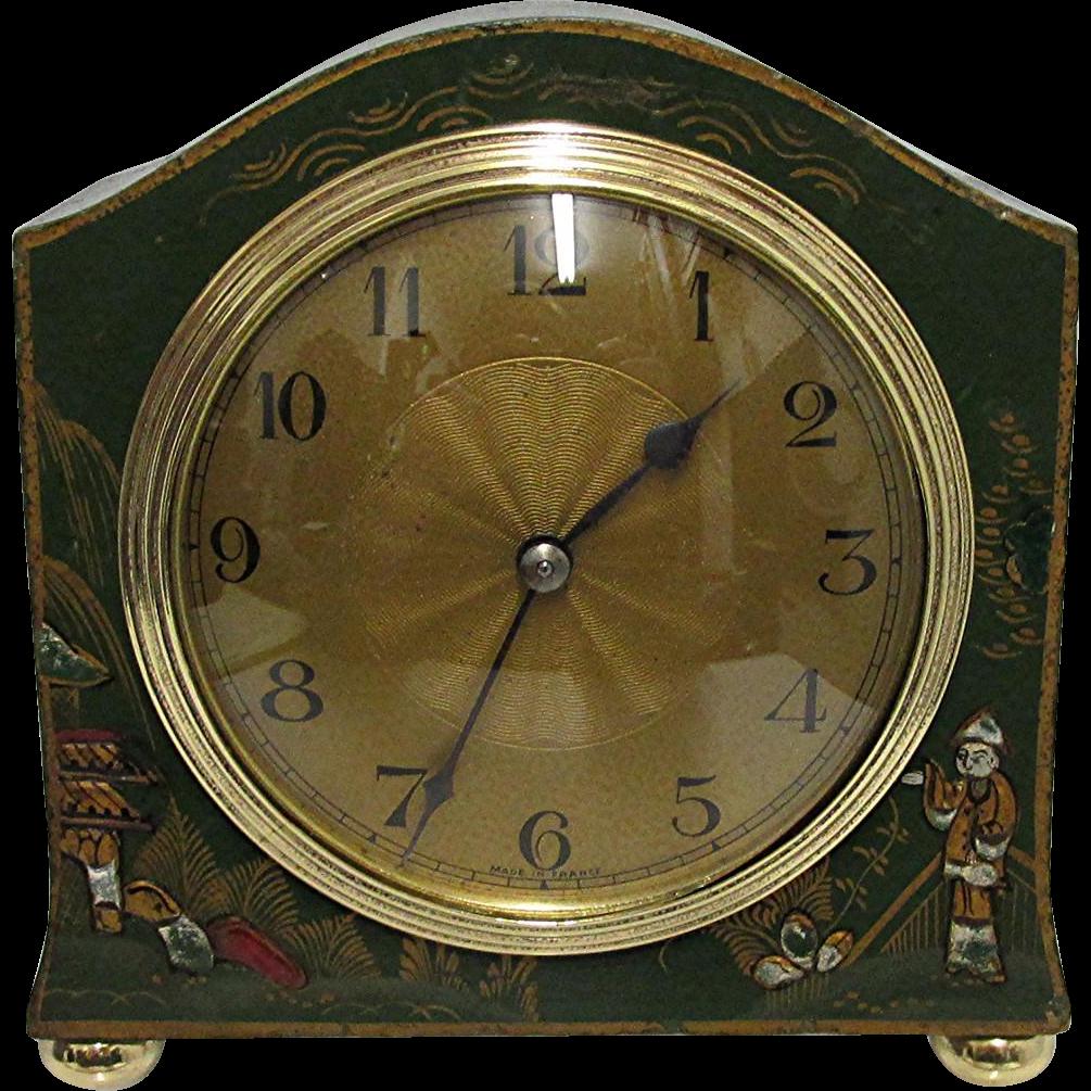 Miniature French Chinoiserie Mantel Clock 100% Original and Restored