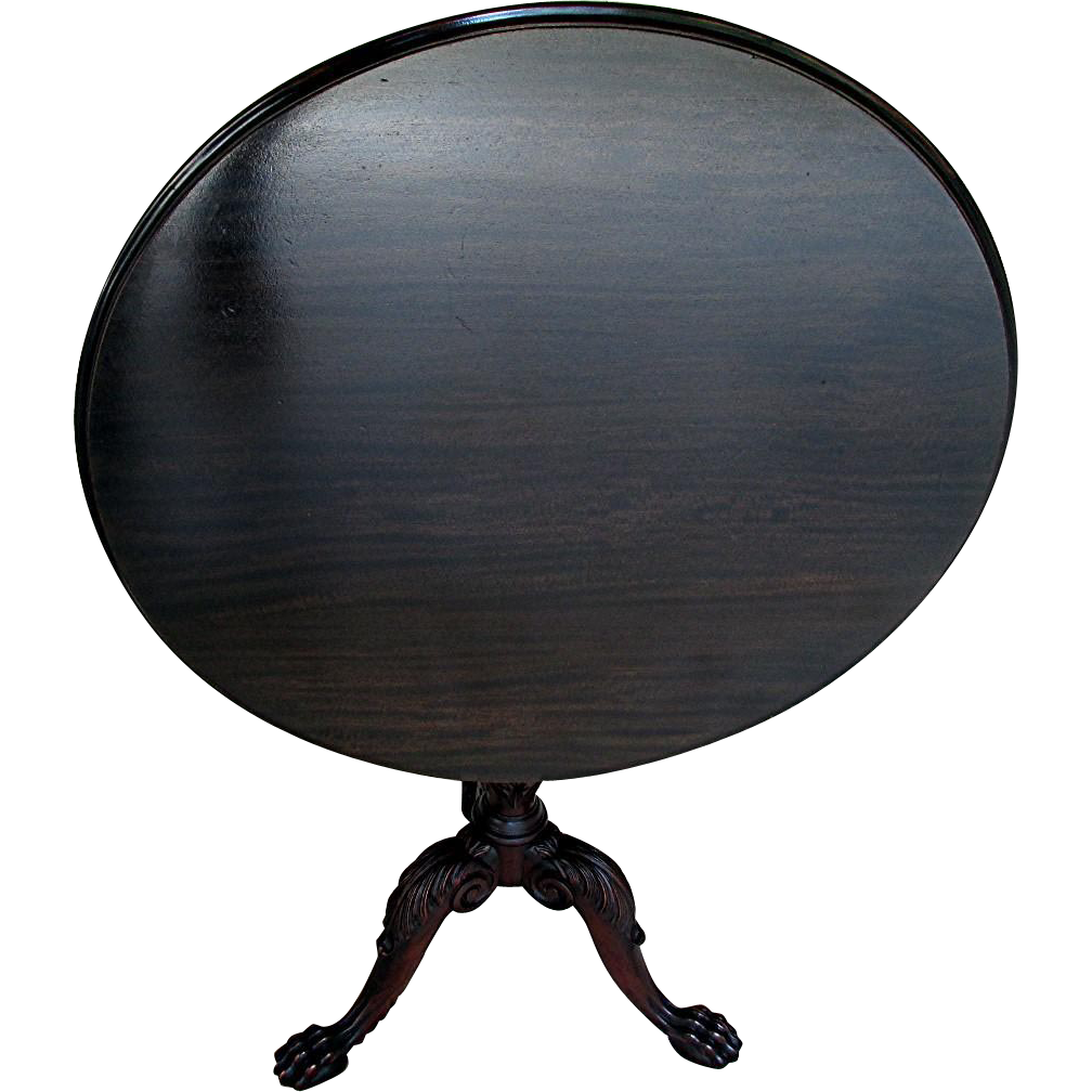 SOLD American Made Tilt Top Mahogany Center Table