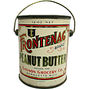 Frontenac Peanut Butter Advertising Tin