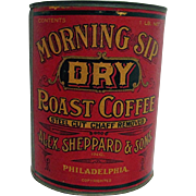 Morning Sip Coffee Advertising Tin