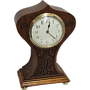 Antique French Hand Carved Balloon Shaped Mantle Clock 100% Original and Fully Restored