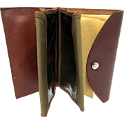 SOLD   Leather Fly Fishing Wallet Unused