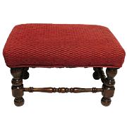 Foot Stool Circa 1910 Velvet Covered Footstool