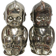 Kewpie Salt and Pepper Shaker Set in Metal