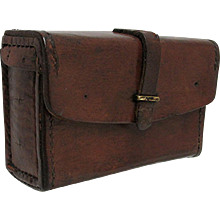 Leather Hunting Ammunition Pouch Very Old