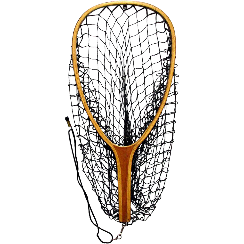 SOLD   Wood Frame Fly Fishing Net