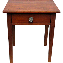 Single Drawer Table or Stand New England