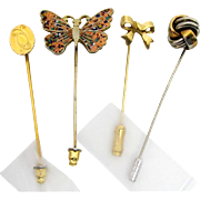 Stickpin Set of Four Different Stick Pins  $29