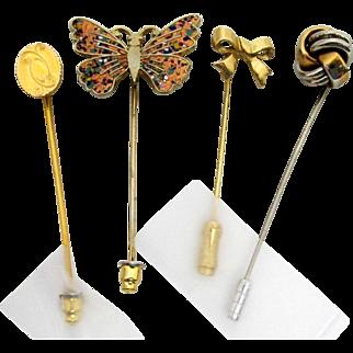 Stickpin Set of Four Different Stick Pins  $29