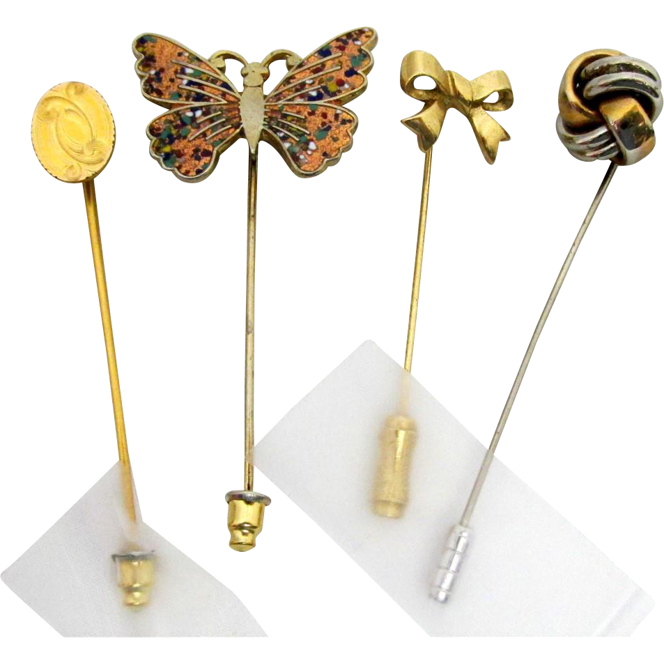 Stickpin Set of Four Different Stick Pins