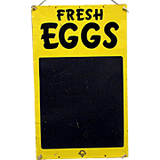 FRESH EGGS Tin Advertising Sign